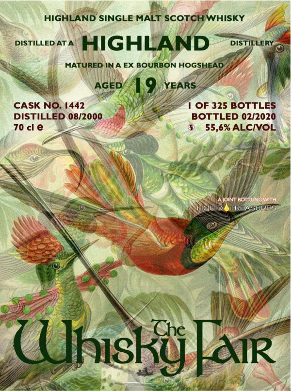The Whisky Fair Highland 19 Jahre 55,6% Alkohol 2020